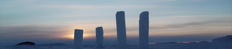 piliers de glace