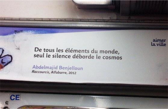 silence cosmos metro parisien