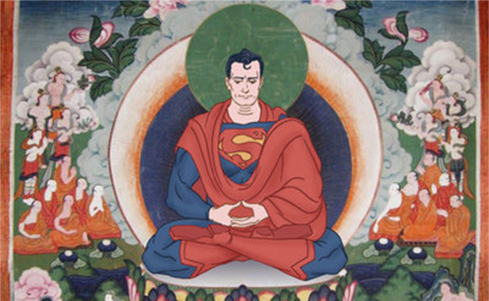 superman meditation bouddhiste